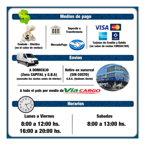 placard ropero orlandi bahia 1,51 5 puertas selectogar6