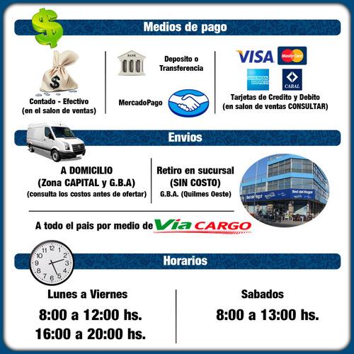 placard ropero orlandi bahia 1,81 6 puertas 2 caj selectogar
