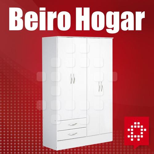 placard ropero platinum 914 4 puertas 2 cajones beiro hogar