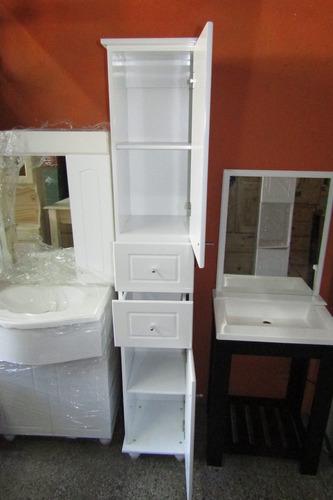 placard tolva anaquel mueble de baño toallero laqueado 40cm