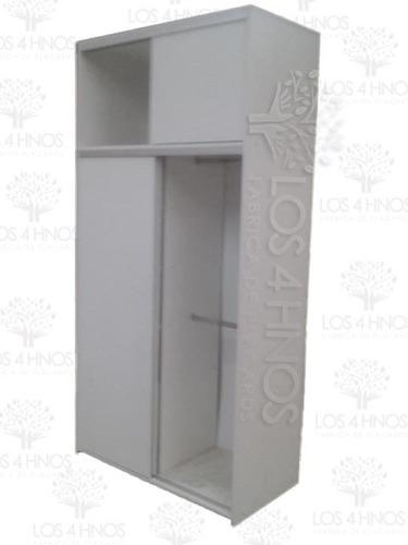 placard/ropero 120x240x60 melm.18mm blanco placard4hermanos