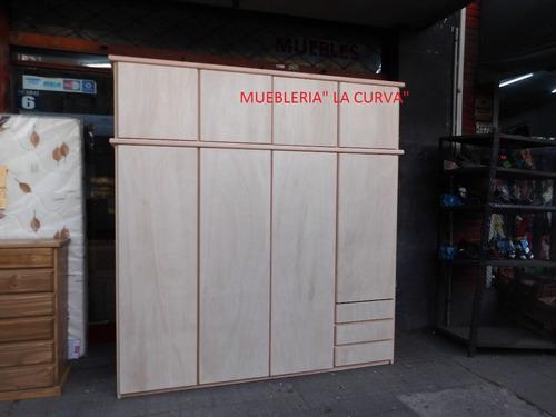 placares guatambu madera 8 puertas  2.10m