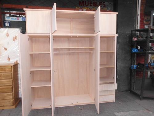 Placares roperos madera guatambu de primera 8 puerta - Muebles roperos ...