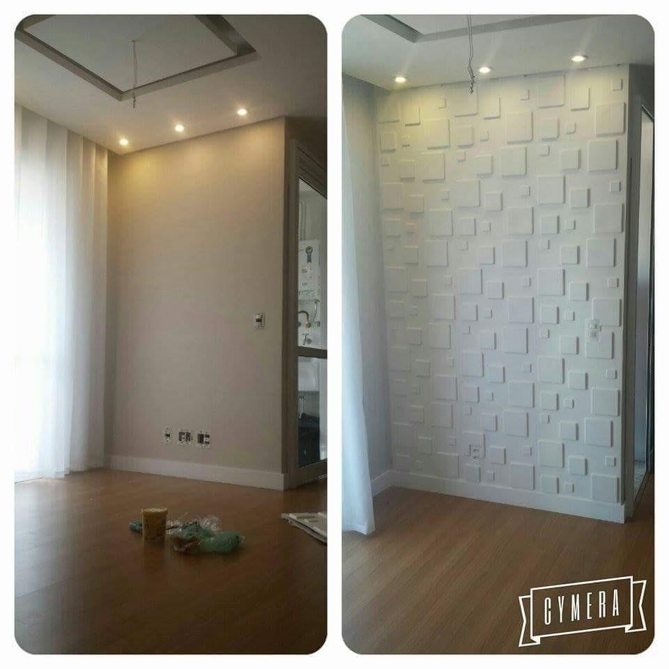 Placas 3d painel 3d revestimento 3d para paredes - Placas decorativas para pared interior ...