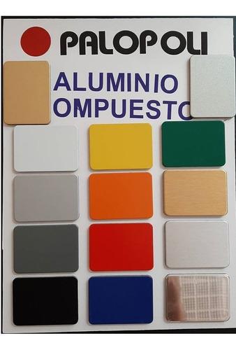placas aluminio compuesto acm 3mm silver, colores, cepillado