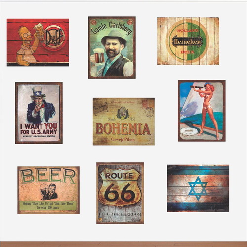placas antigas vintage retro grandes 30 x 40 cm em mdf