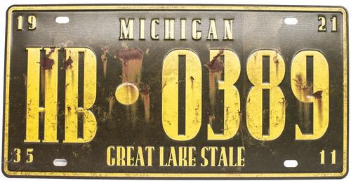 placas carros usa decorativa metalica vintage retrô