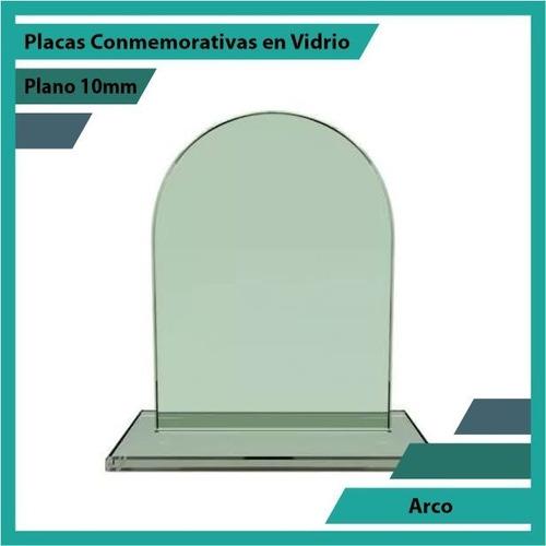 placas conmemorativas en vidrio forma arco