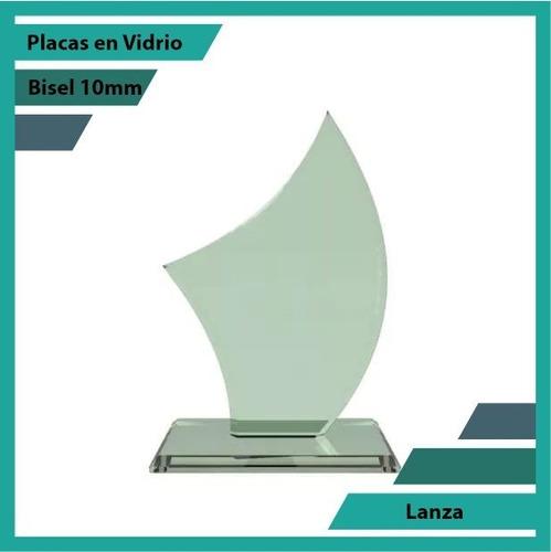 placas conmemorativas en vidrio lanza plano