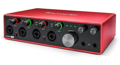 placas de audio usb focusrite scarlett 18i8