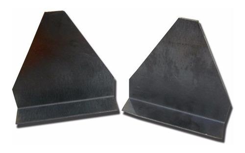placas de chapa plegada (2)para triangulos reflectivos(par)
