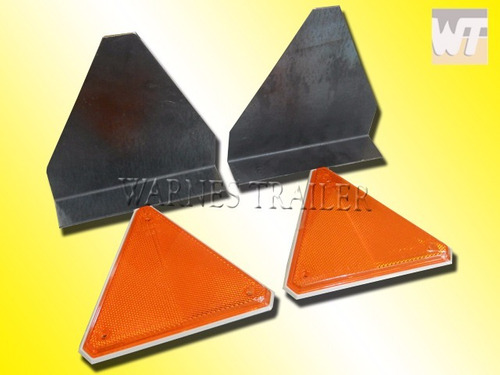 placas de chapa plegada + triangulos reflectivos(par)