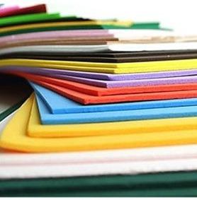 placas de colores goma espuma