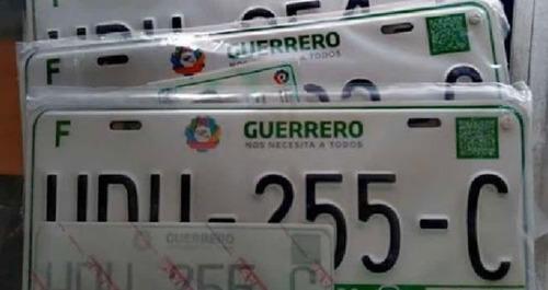 placas de guerrero para carros con adeudo o americanos
