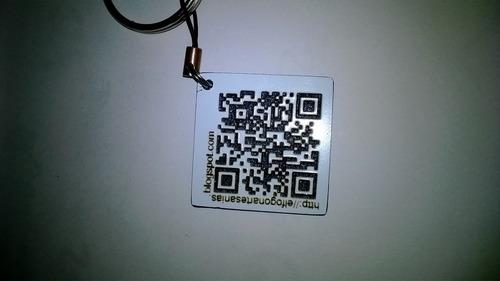 placas de identificación de mascotas con codigo qr