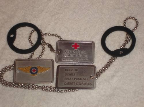 placas de identificacion, mascotas, ejercito, scouts, y mas