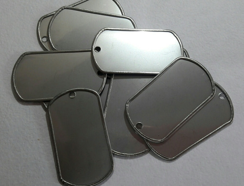 placas de identificacion militar 50 pzas grabar envio gratis