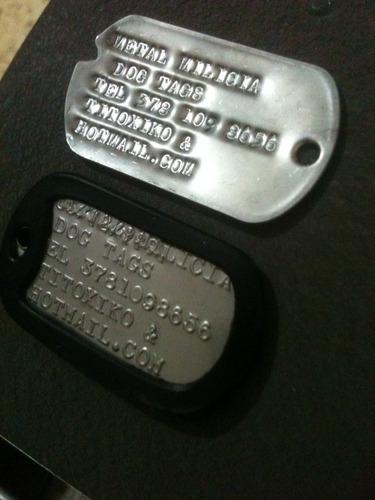 placas de identificacion militar dog tags súper oferta!
