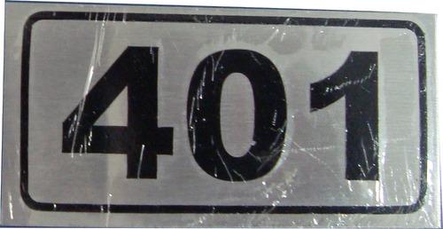placas de identificação em aço inox para apartamentos - 8x4
