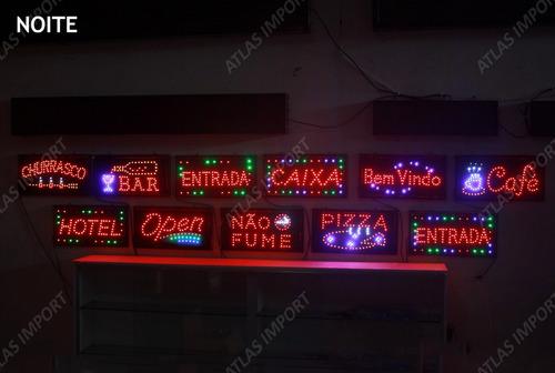 placas de led boteco letreiro luminoso