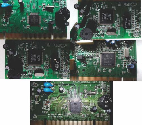 placas de modem  diversas