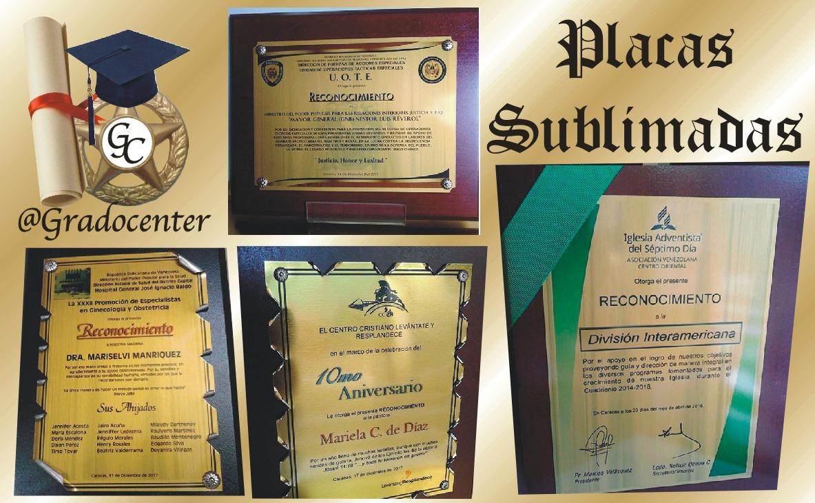Placas De Reconocimiento Acrilicos Diplomas Gradocenter En Mercado