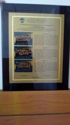 placas de reconocimiento ,acrilicos  trofeos