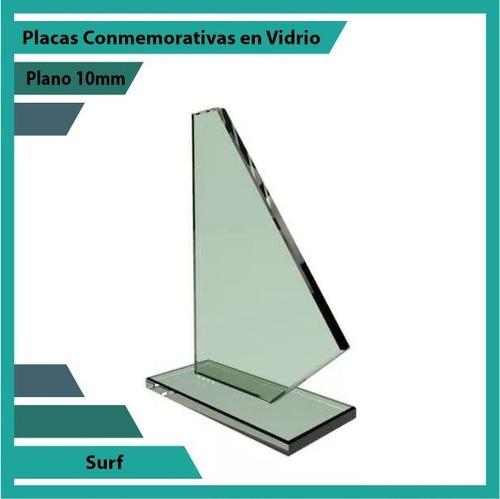 placas de reconocimiento en vidrio referencia surf plano10mm