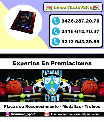 placas de reconocimiento, premiacion, medalla, trofeo