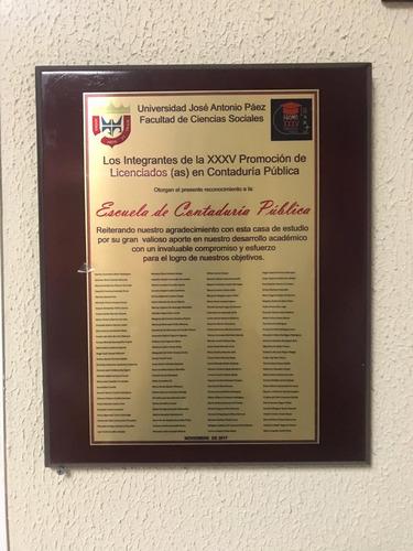 placas de reconocimientos