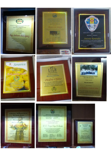placas de reconocimientoss