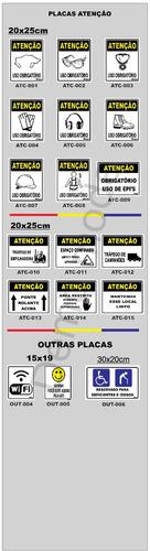 19e98b5a3e2ca Placas De Sinalização Segurança Do Trabalho - R  75,00 em Mercado Livre