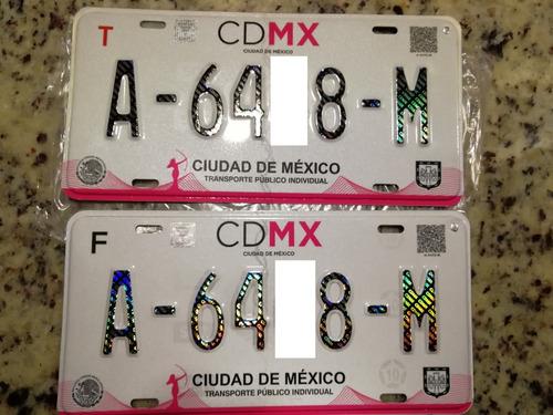 placas de taxi