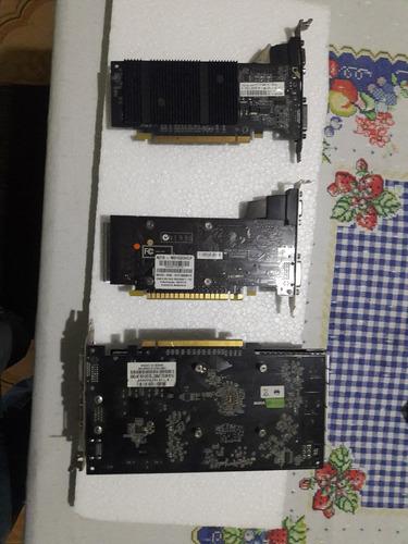 placas de video nvidia e  amd - 3 mod. com defeito re. peças