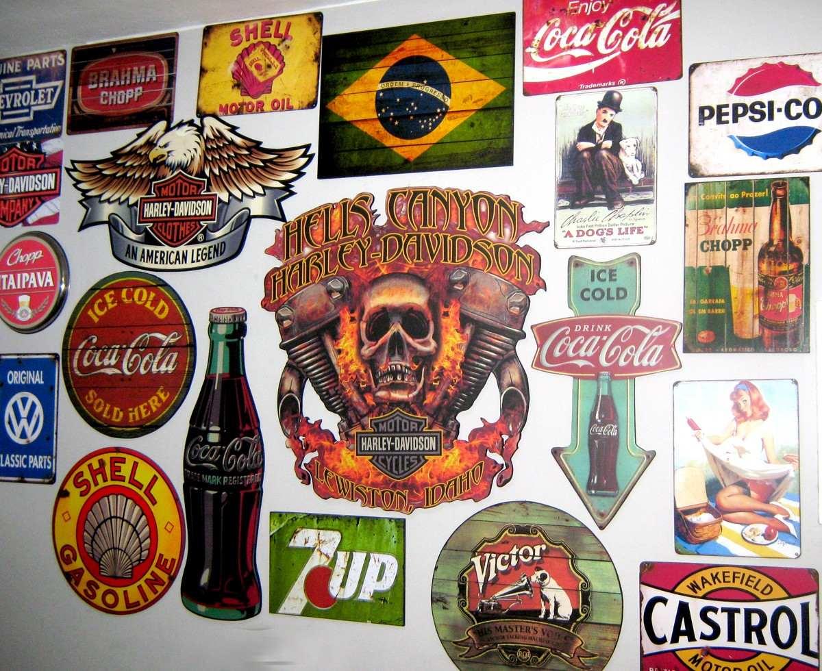 Placas Decoração Aniga Retro Vintage Pin Ups R$ 20 00 em Mercado  #AA6A21 1200 980
