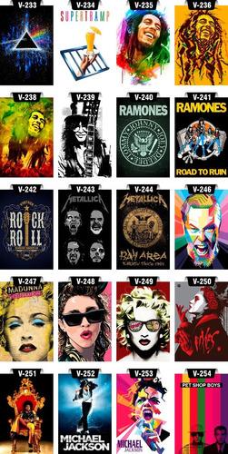 placas decoratias mdf quadros rock pop bandas corte laser