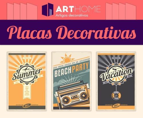 placas decorativas 20x13 vintage e retrô bar