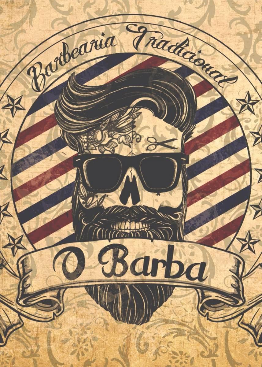 Adesivo De Parede Com Led ~ Placas Decorativas Barbearia Barber Shop Vintage 20x30cm