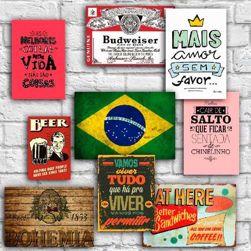 placas decorativas bebida comidas frases cozinha sala em mdf