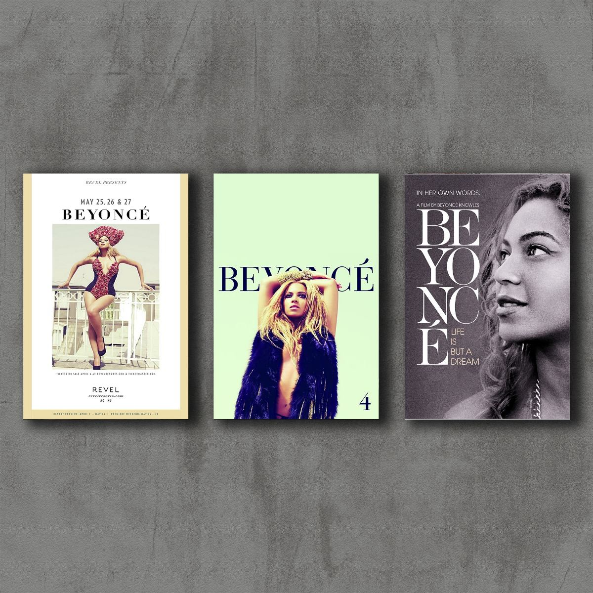 Placas Decorativas Beyoncé 4 Poster(conjunto)