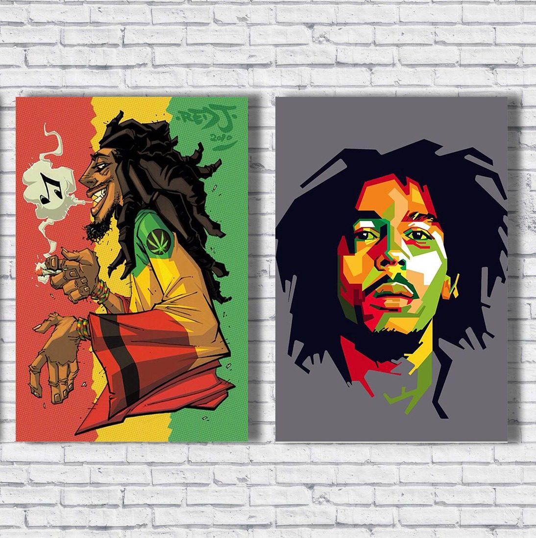 Placas Decorativas Desenhos Bob Reggae Conjunto R 39 00 Em