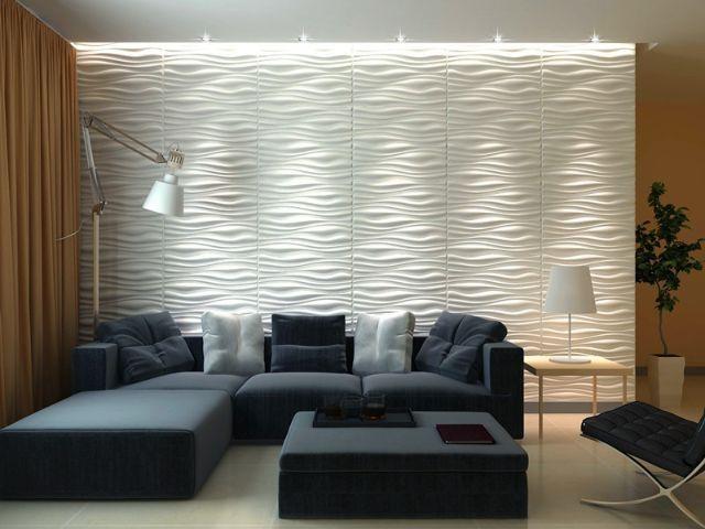 Placas decorativas em 3d revestimentos de parede 3d r - Placas decorativas paredes interiores ...