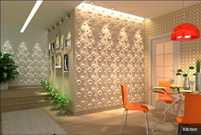 Placas decorativas em 3d revestimentos de parede 3d r for Placas decoracion pared