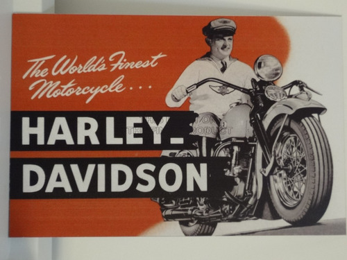 placas decorativas em ps 20x30! harley davidson!