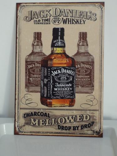 placas decorativas em ps 20x30! jack daniel's