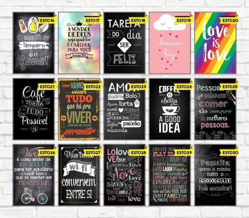 placas decorativas frases bebidas vintage a cada 5 ganha + 2