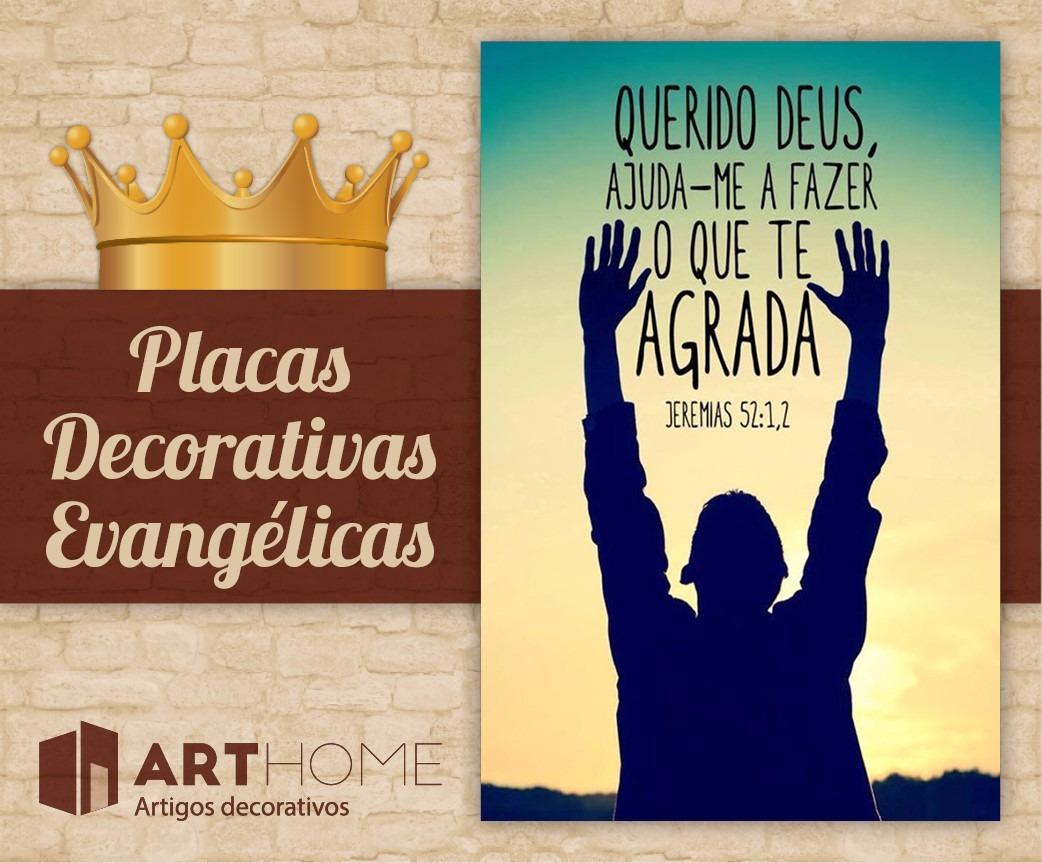 Placas Decorativas Frases Evangélicas Bíblicas Gospel
