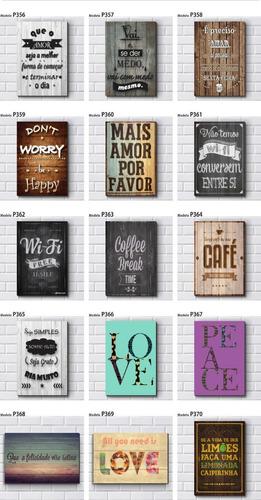 placas decorativas mdf  frases motivacionais vintage 30x20cm