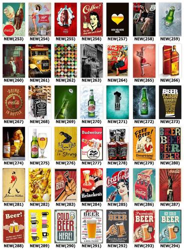 placas decorativas mdf frases retrô cerveja  vintage brindes
