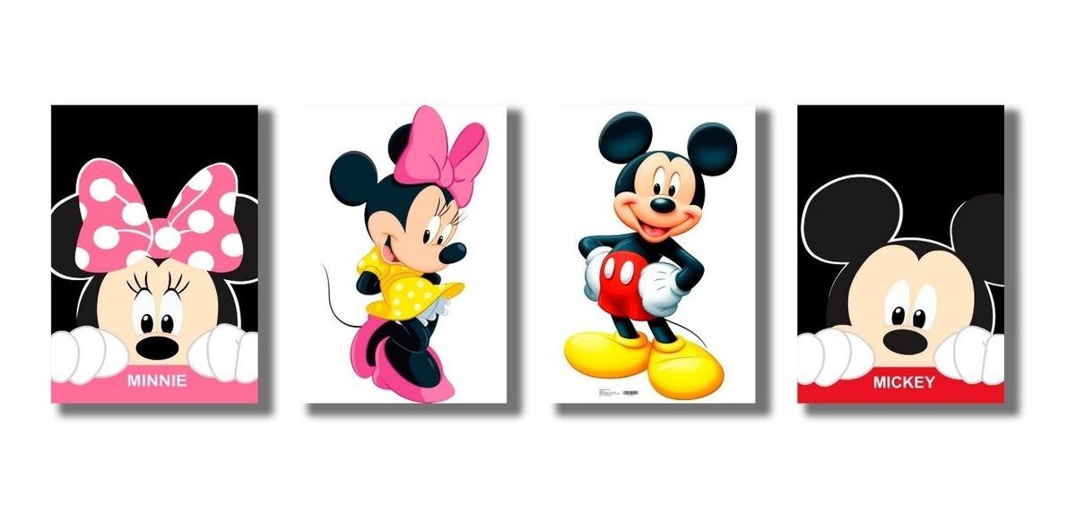 Placas Decorativas Mickey E Minnie Desenho Infantil Mdf R 50 00